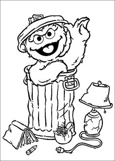 236x330 Coloring Page Of Oscar And Go Away! Sign. Oscar The Grouch