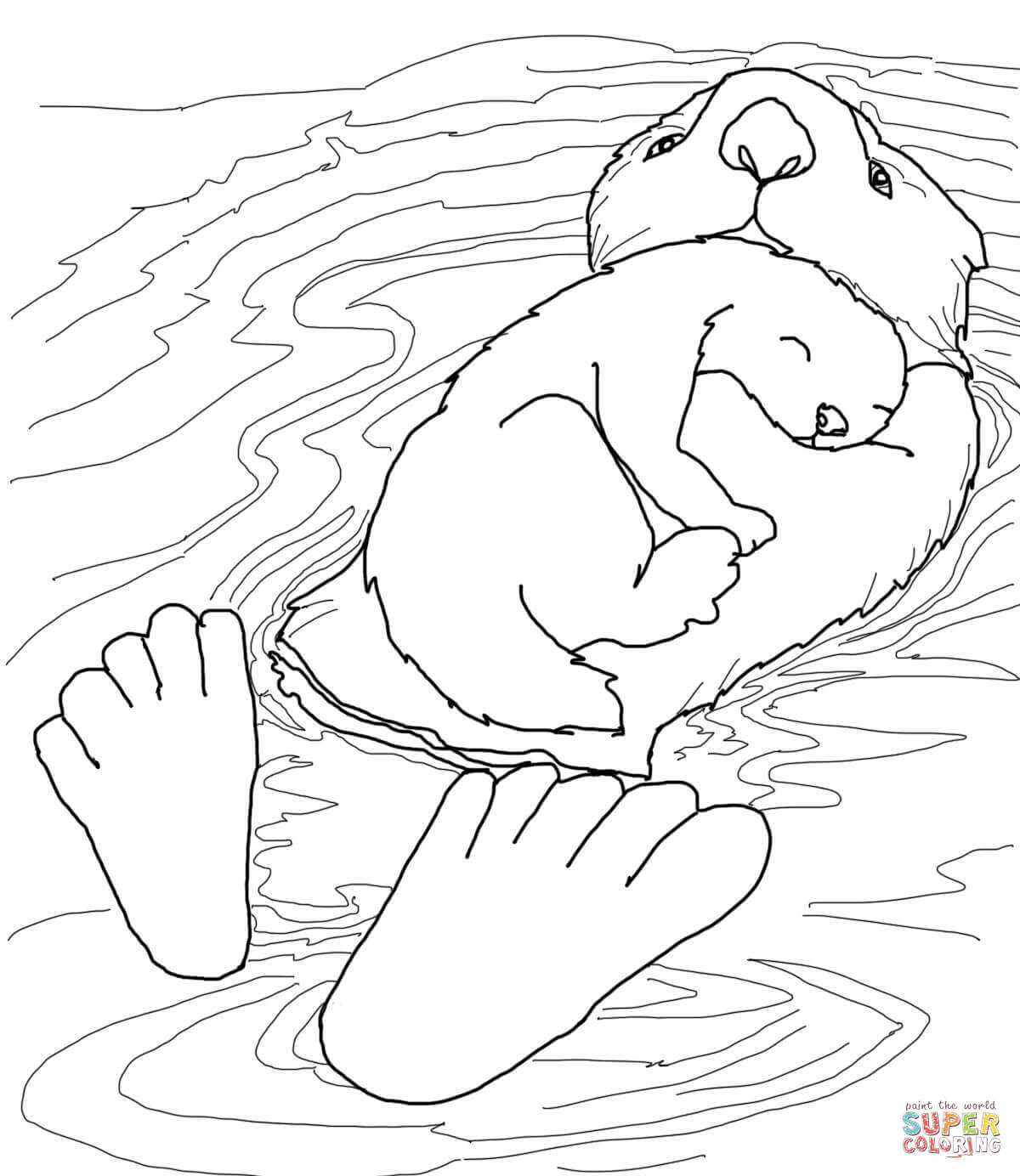 1200x1384 O Otter Coloring Sheets Sea Kelp Pages Easy Moreover