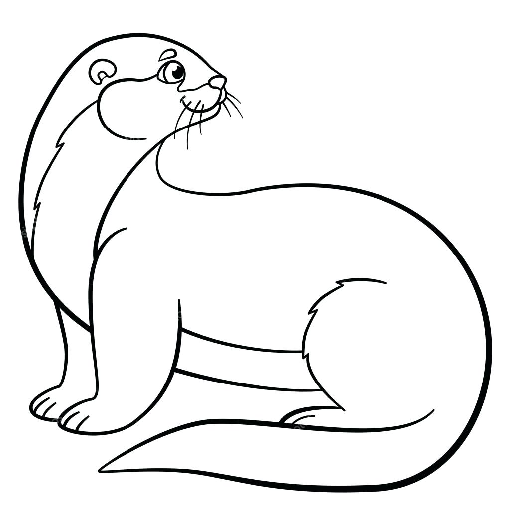 Otter Line Drawing at GetDrawings.com | Free for personal use Otter ...