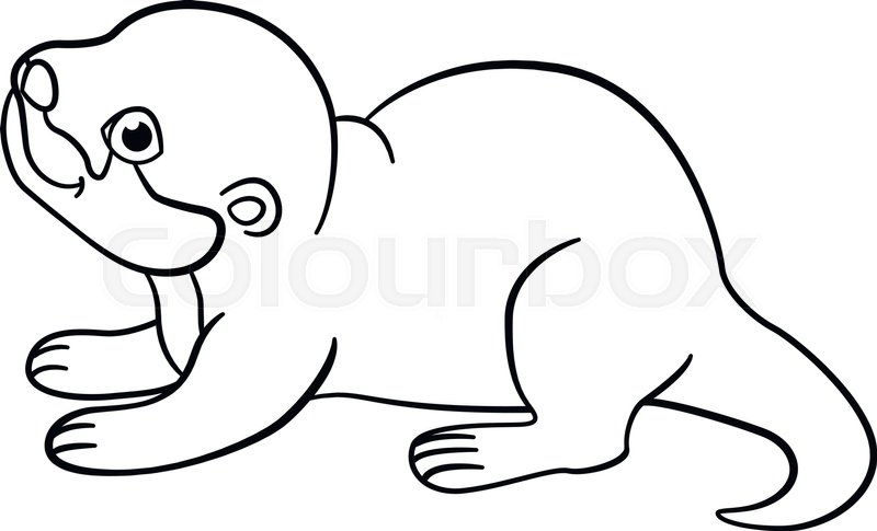 otters drawing at getdrawings  free download