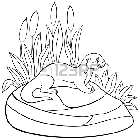 450x450 257 Sea Otter Stock Vector Illustration And Royalty Free Sea Otter