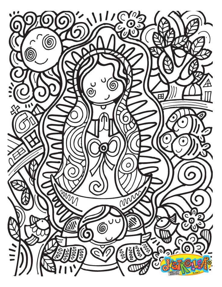 736x952 Our Lady Of Guadalupe Coloring Page 389335