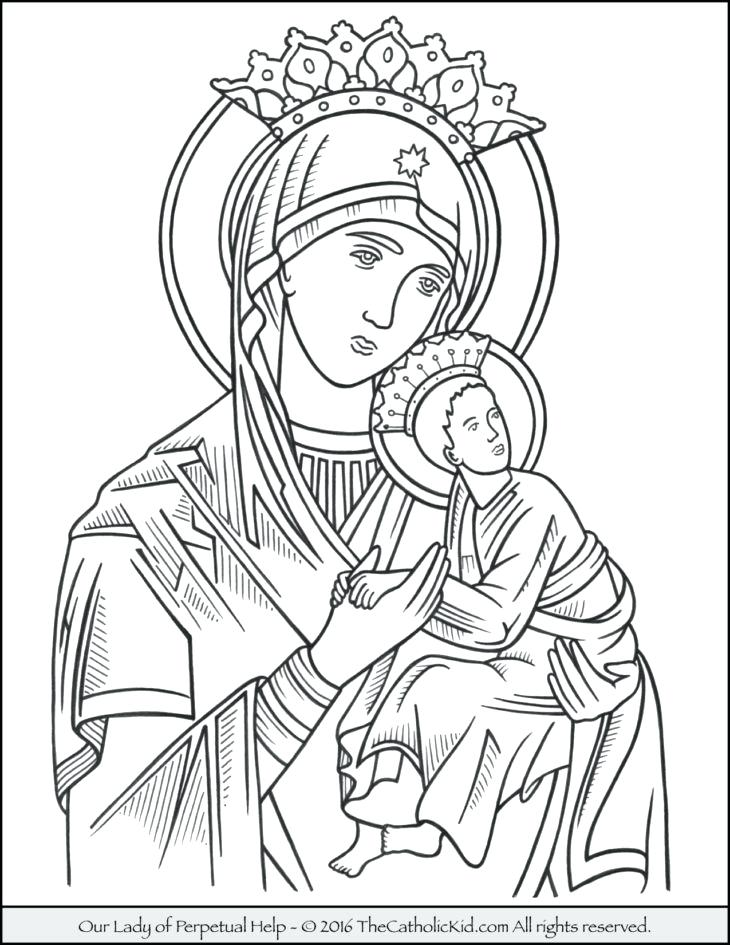 730x945 Our Lady Of Guadalupe Coloring Page Free Our Lady Of Coloring Page