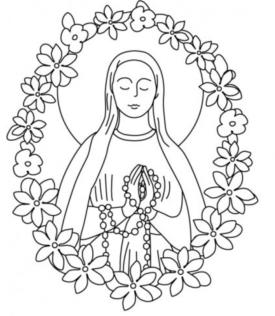893x1024 Our Lady Of Guadalupe Coloring Page Our Lady Of Guadalupe Coloring