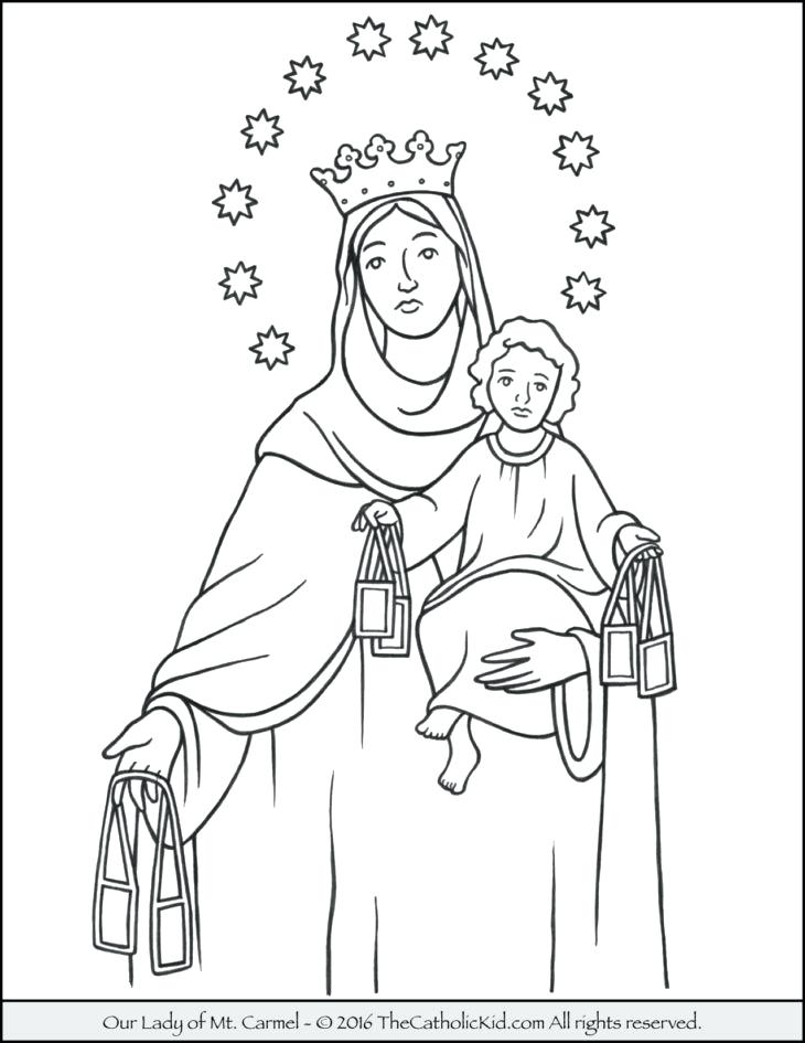 730x945 Our Lady Of Guadalupe Coloring Page Our Lady Of Mt Coloring Page
