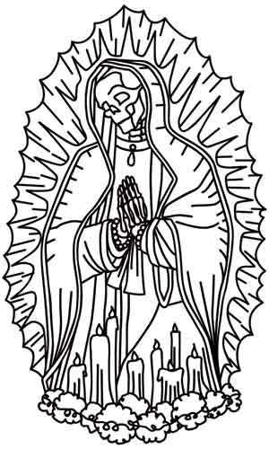 300x500 Our Lady Of Guadalupe Urban Threads Unique And Awesome