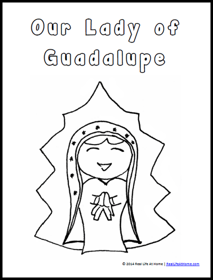 426x560 Our Lady Of Guadalupe Coloring Page (And Activities)