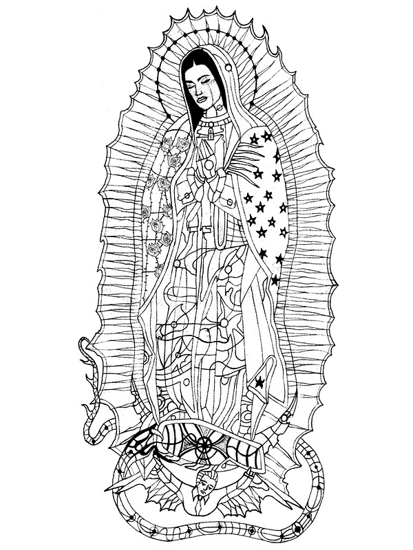 600x800 Our Lady Of Guadalupe Stickers By Edwin Rivera Redbubble