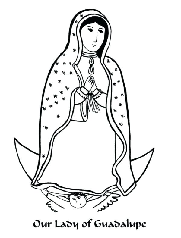 600x790 Virgen De Guadalupe Coloring Pages Our Lady Of Coloring Page
