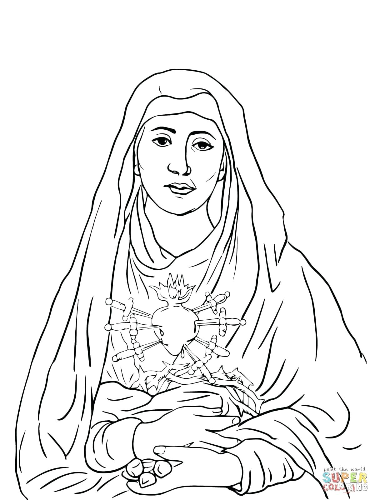 1200x1600 Coloring Our Lady Of Guadalupe Coloring Page Blessed Mother Clip