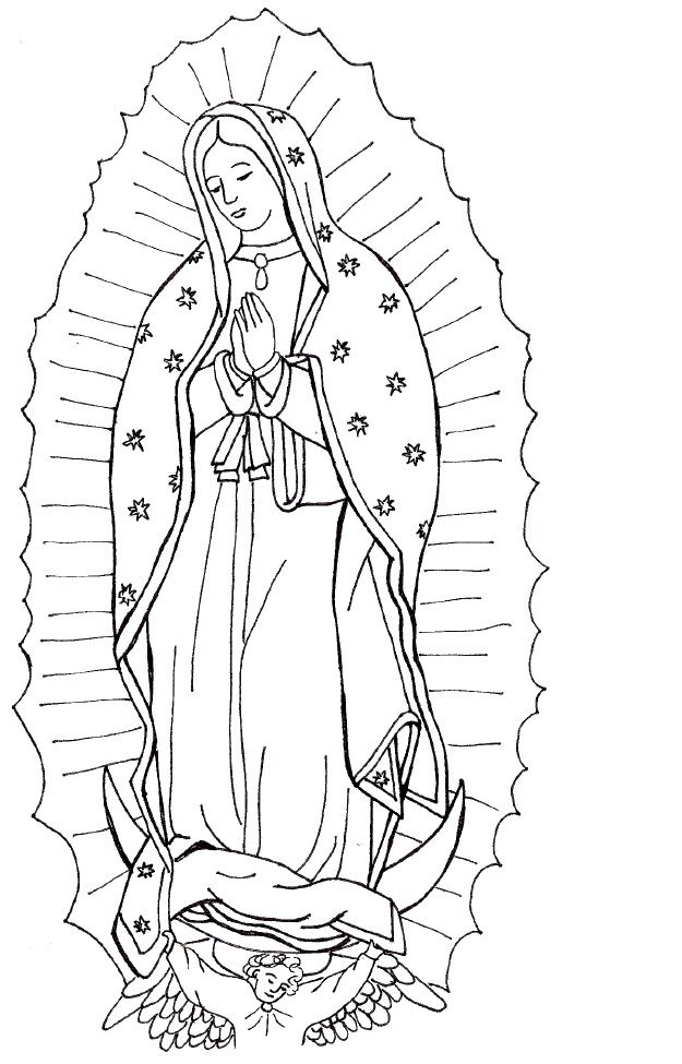 625x975 Free Printable Coloring Pages Our Lady Guadalupe Our Lady