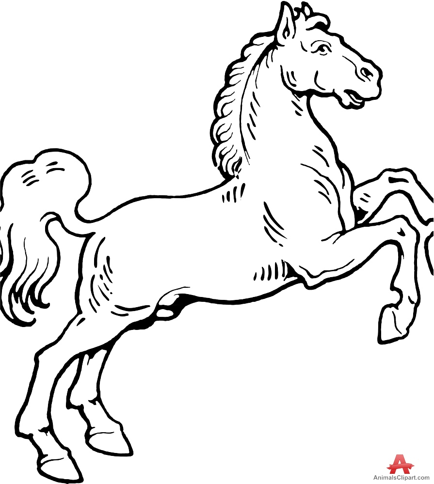 895x999 Horse Outline Drawing Free Clipart Design Download