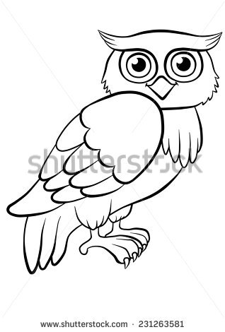 318x470 Owl Outline Drawing