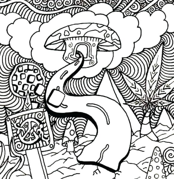 582x600 Here Are Trippy Coloring Pages Images Free Printable