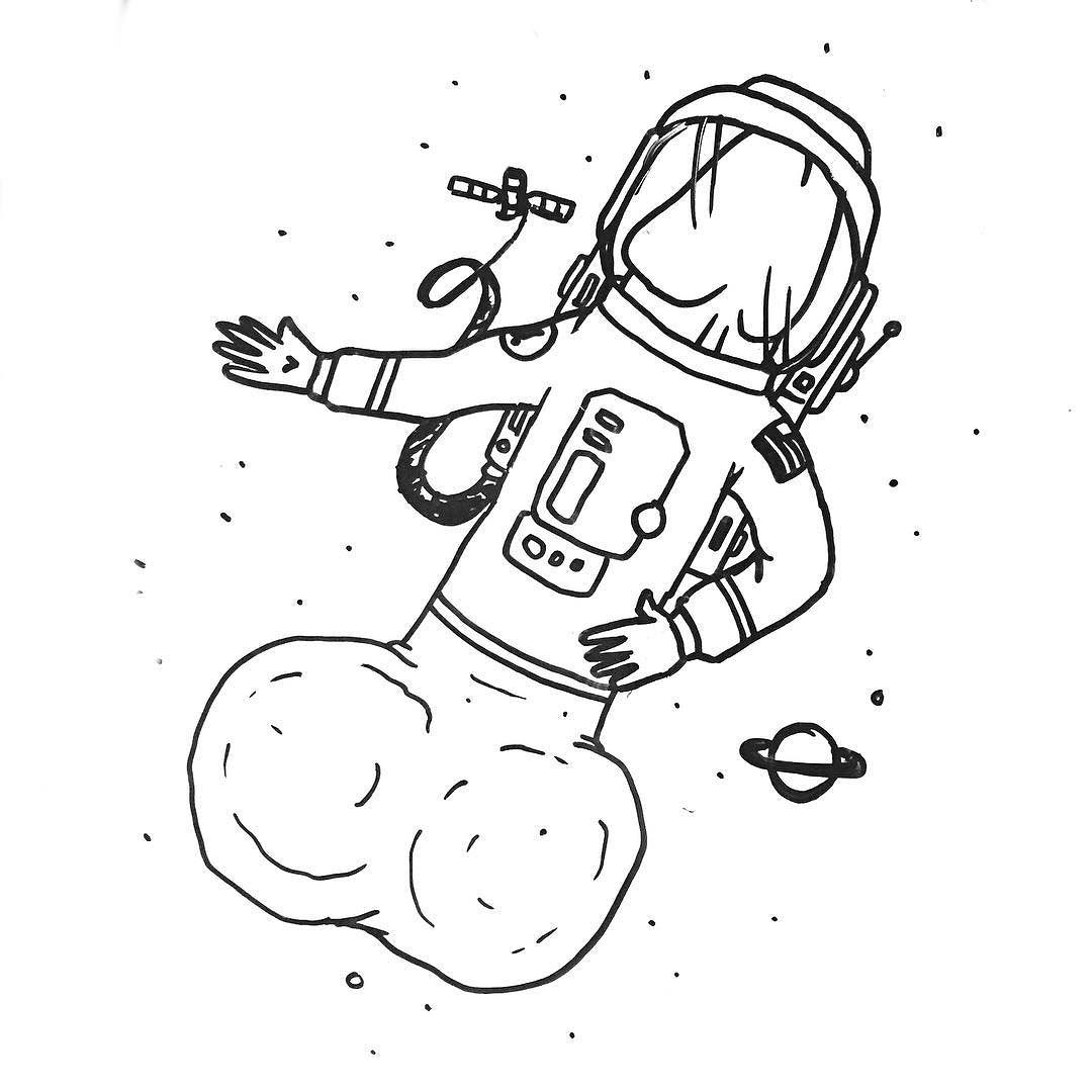 It is an image of Légend Tumblr Space Drawing