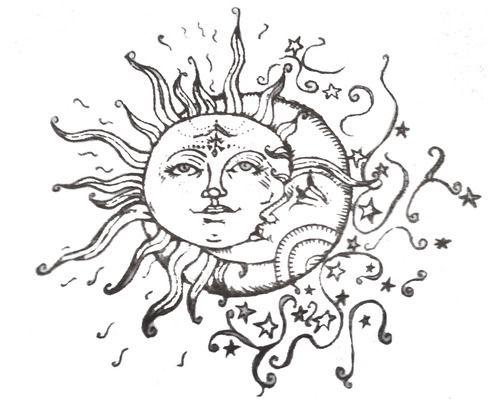 500x400 Drawn Pen Moon