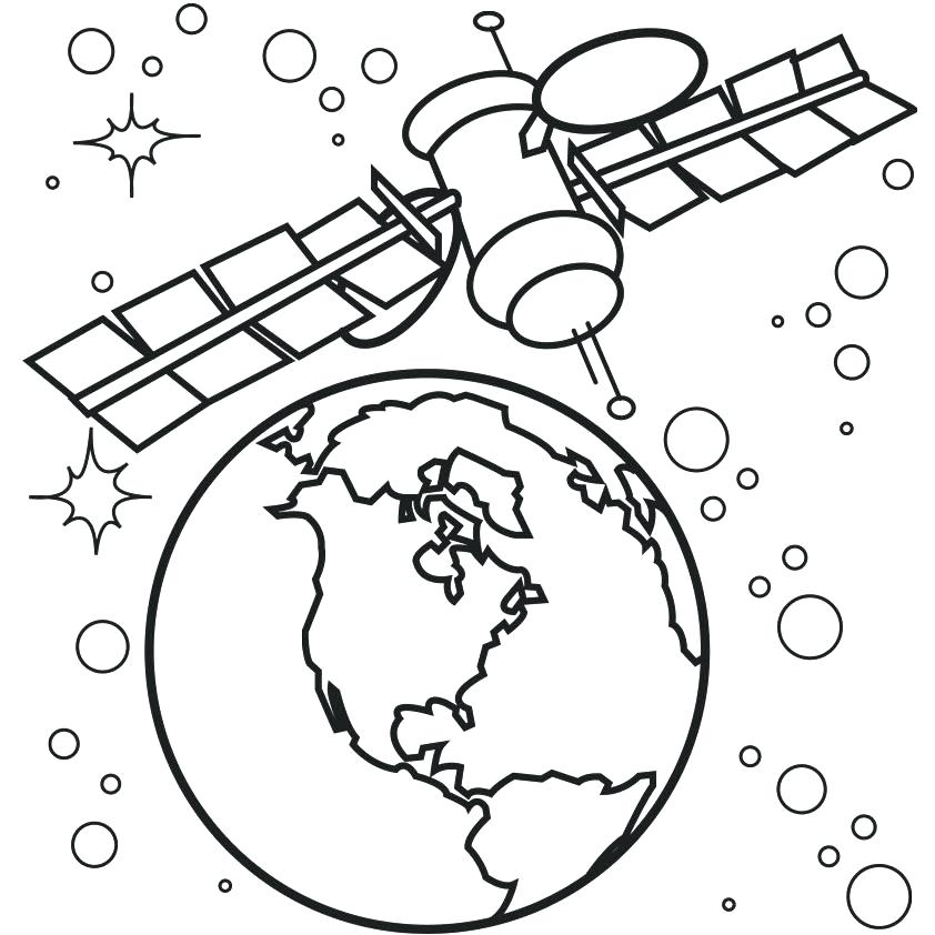 842x842 Minimalist Outer Space Coloring Pages Free Download Earth
