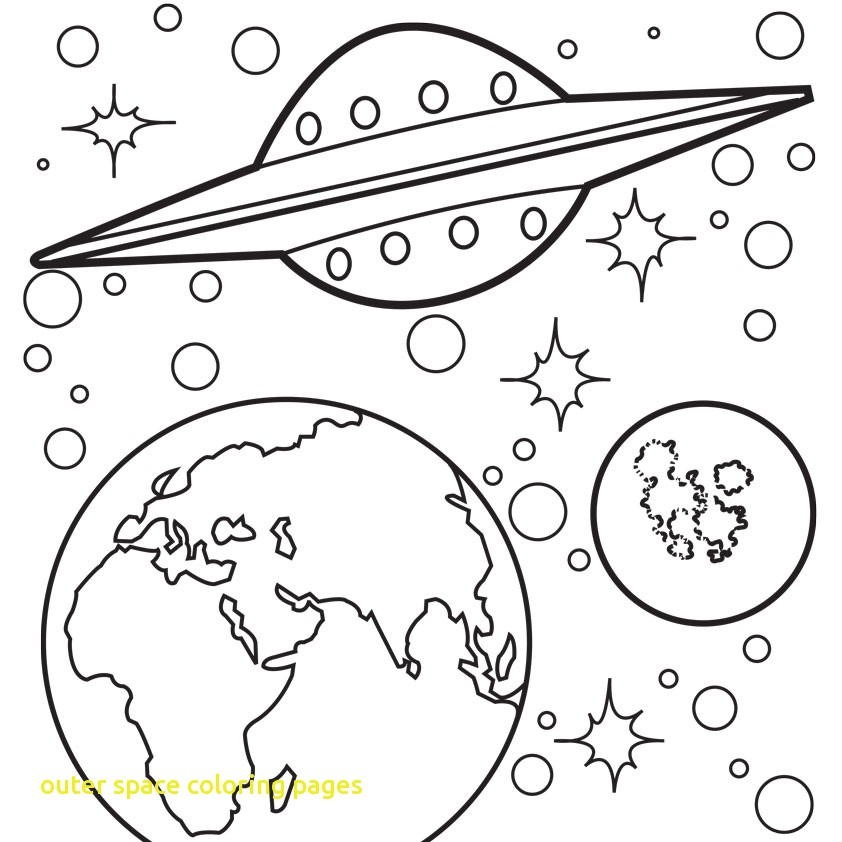 842x842 Outer Space Coloring Pages With Krypto The Dog Go Into Outer Space