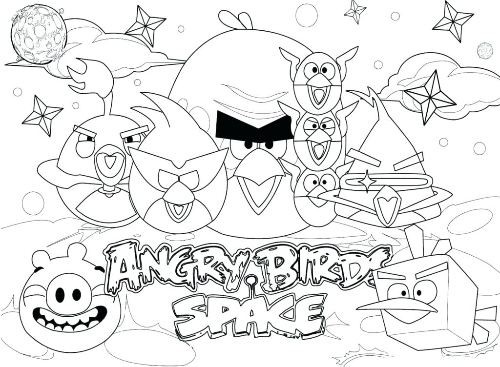 1024x752 Space Coloring Page Image Of Angry Birds Space Coloring Pages