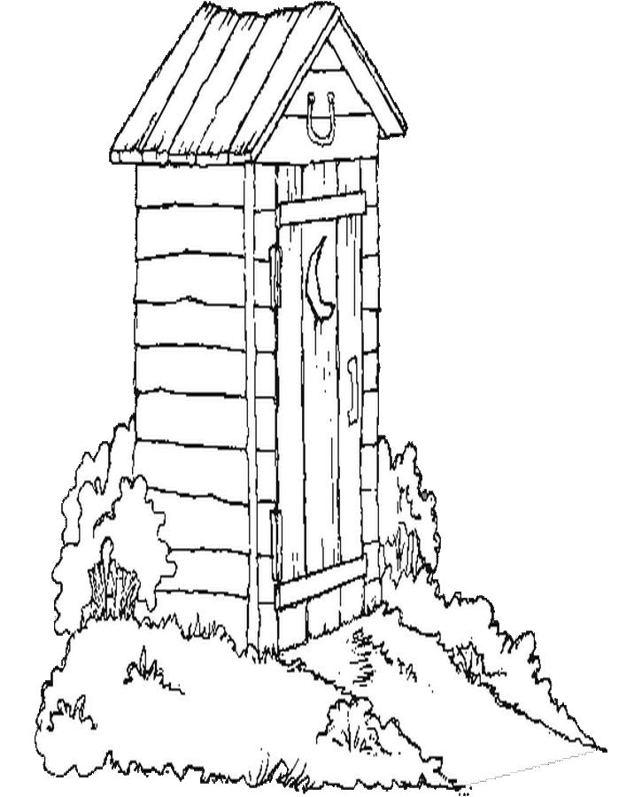 Outhouse Drawing At GetDrawings.com