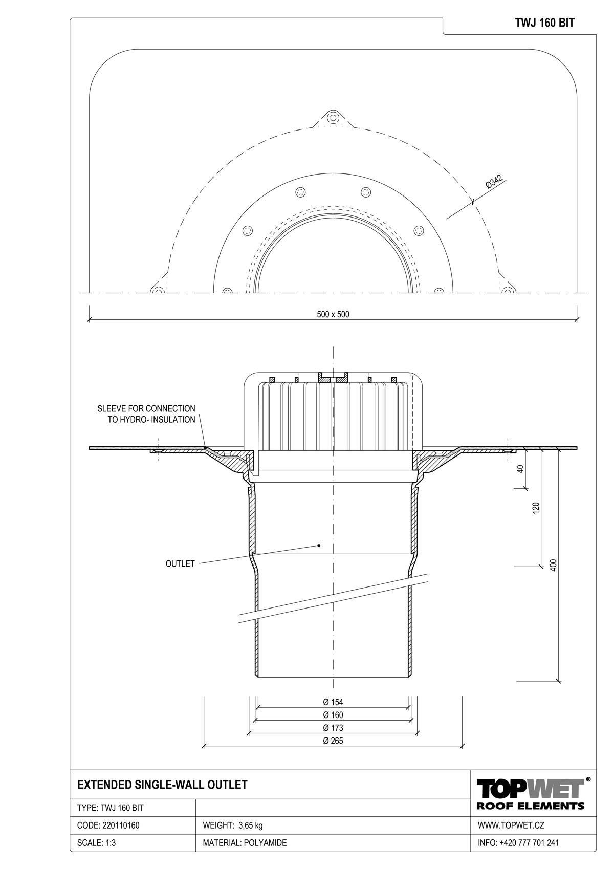 Outlet Drawing At Free For Personal Use Electrical Panel Box Diagram W219 1200x1698 Extended Single Wall Roof Outlets With Integrated Bitumen Sleeve
