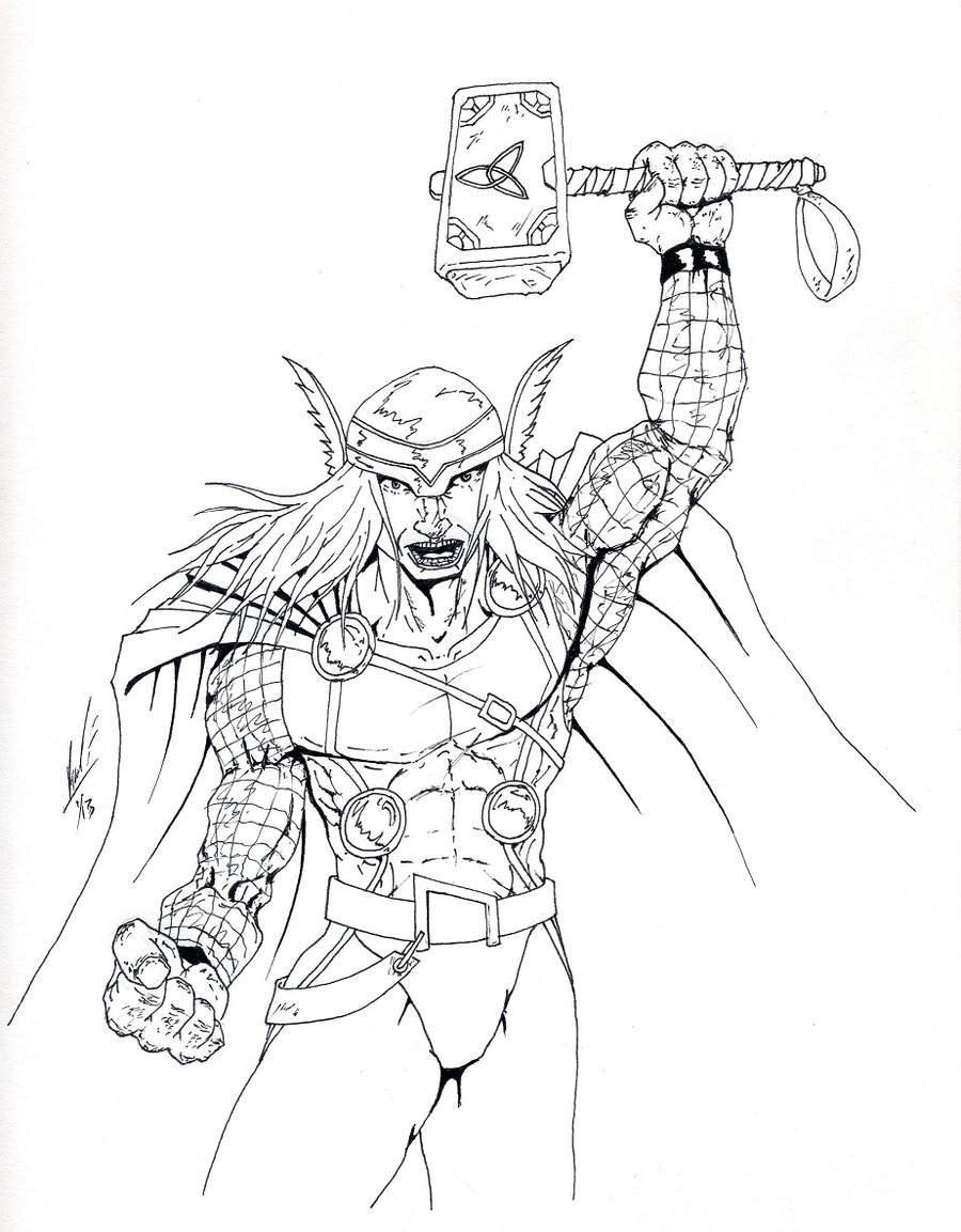 900x1153 Lovely Design Ideas Thor Outline Wip By Bardielunit03