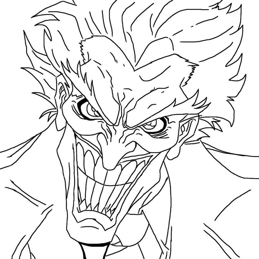 894x894 Photos Joker Outline Drawing,