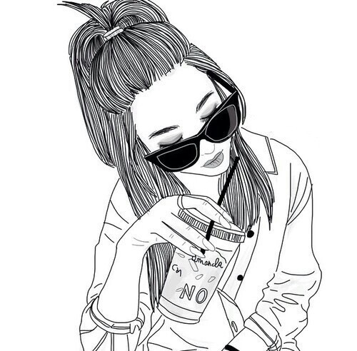 500x492 Gambar Girl, Outline, And Drawing Wallpaper
