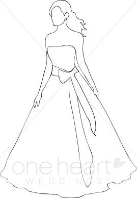 269x388 Bride Outline Clipart Bride Clipart