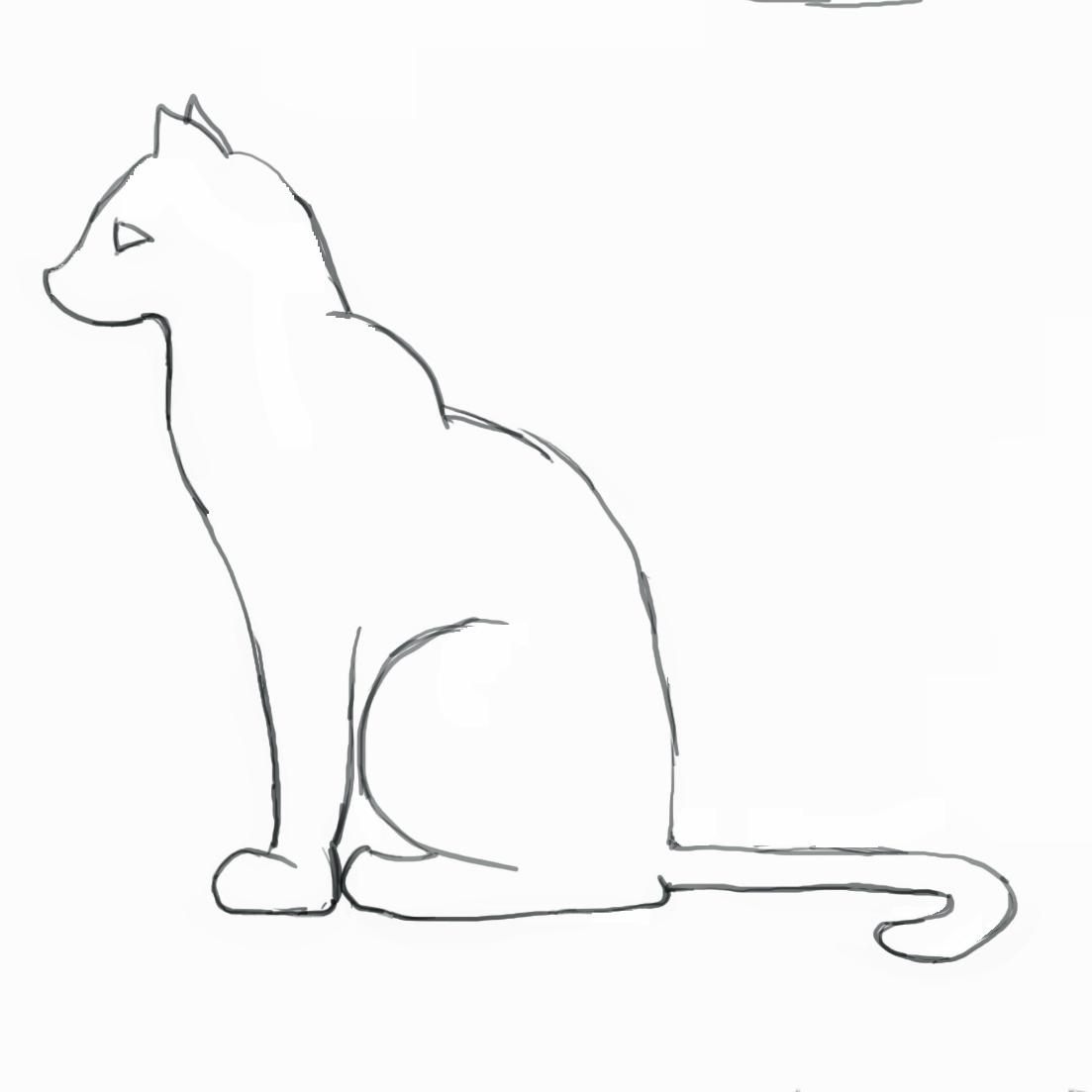 1103x1103 Cat Outline