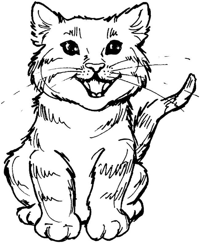 650x791 Cat Shape Template