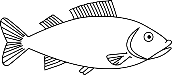 600x261 Easy Long Fish Drawings Fish Outline 3 Clip Art 4 H Projects