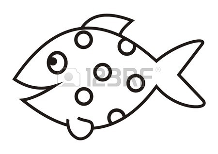 450x318 Outline Drawing Of Fish Stock Photos. Royalty Free Business Images