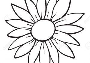 300x210 Flower Outline Drawing Black Flower Outline Stock Vector. Image