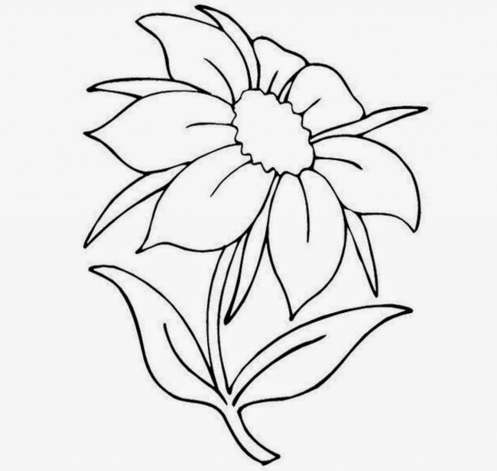 1024x971 Flowers Pictures For Drawing Rose Flower Outline Drawing Flowers