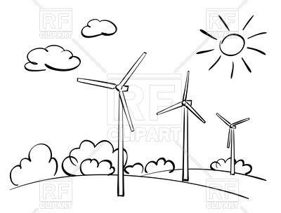 400x304 Wind Turbines And Nature