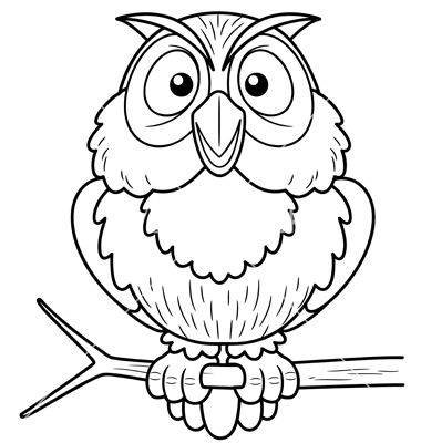 outline of an owl melo in tandem co