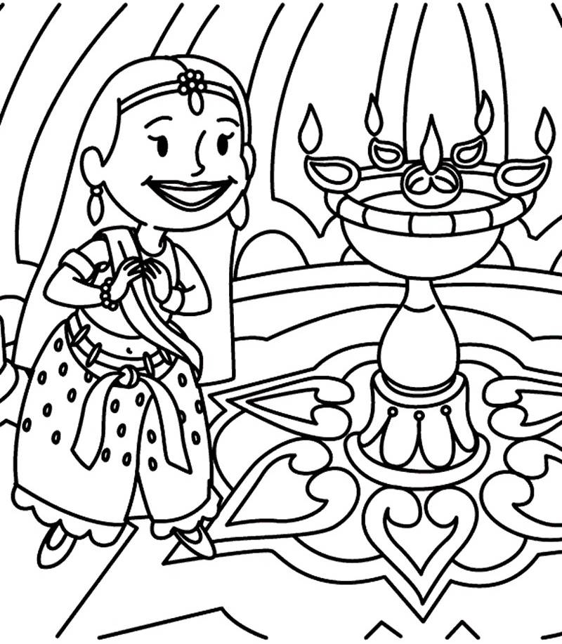 800x917 Diwali Paintings, Scene, Drawing Pictures, Sketch For Kids Happy