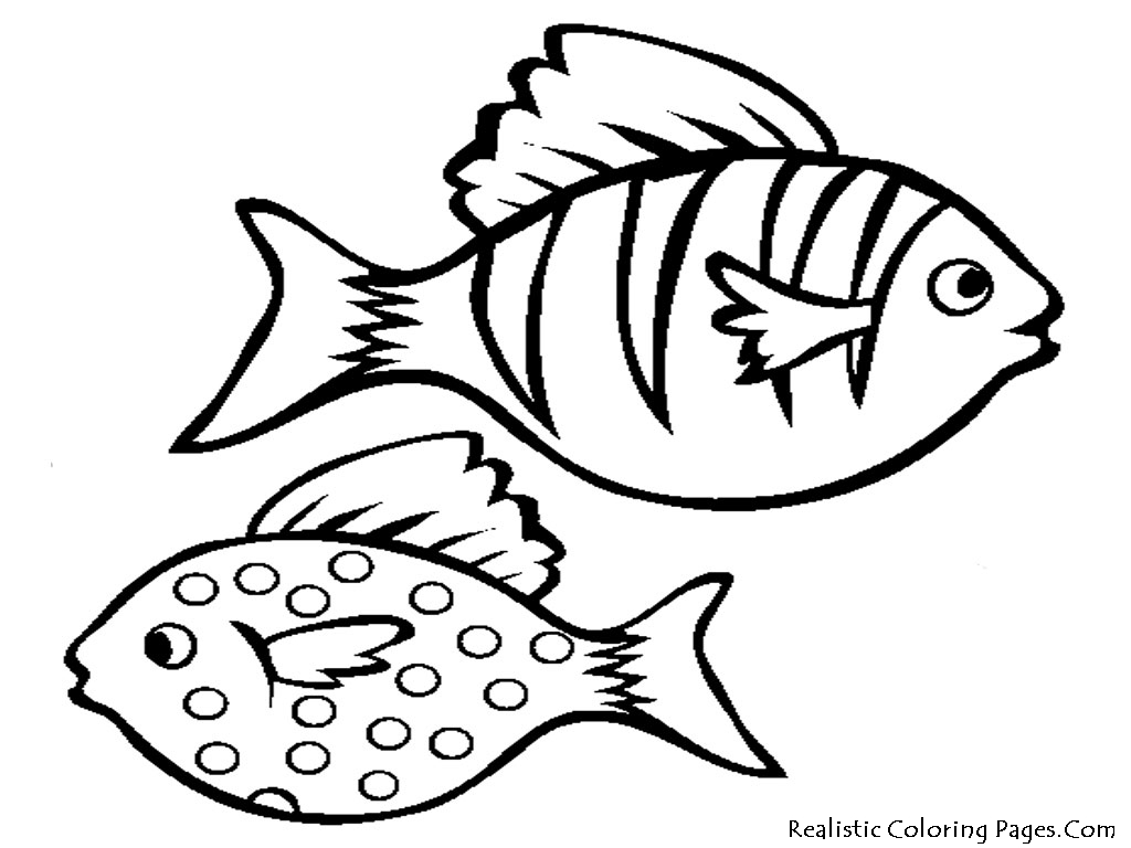fish aquarium decorations coloring pages | Outline Of Fish Drawing at GetDrawings.com | Free for ...