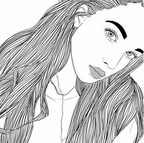 500x498 15 Best Outlines Images On Outline Drawings, Girl