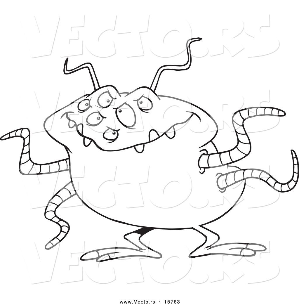 1024x1044 Vector Of A Cartoon Menacing Alien