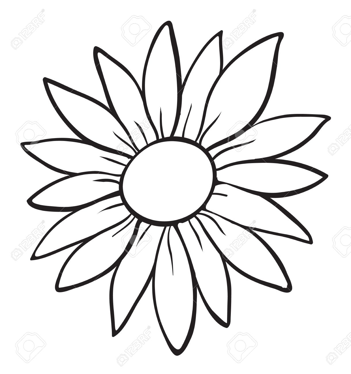1221x1300 Eletragesi Easy Flower Drawing Outline Images
