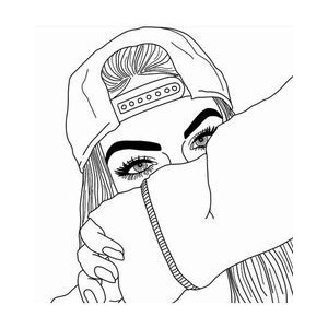 300x300 Tumblr Outlines Tumblr Outlines, Draw And Girl