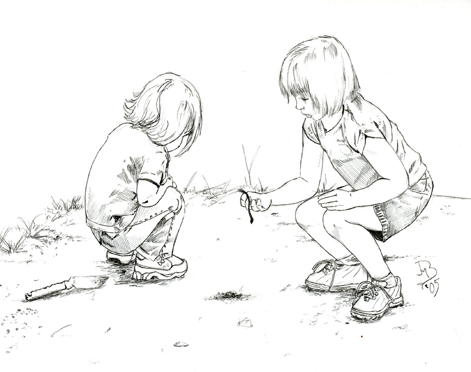 948x750 Photos Drawings Of Kids Playing,