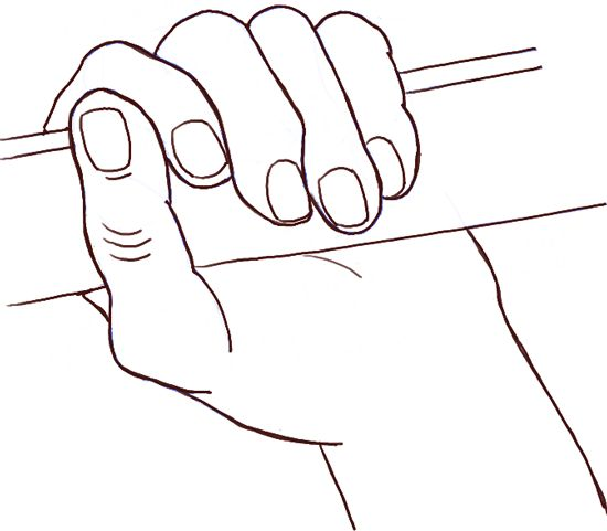 Outstretched Hand Drawing