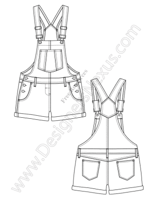 Overalls Drawing