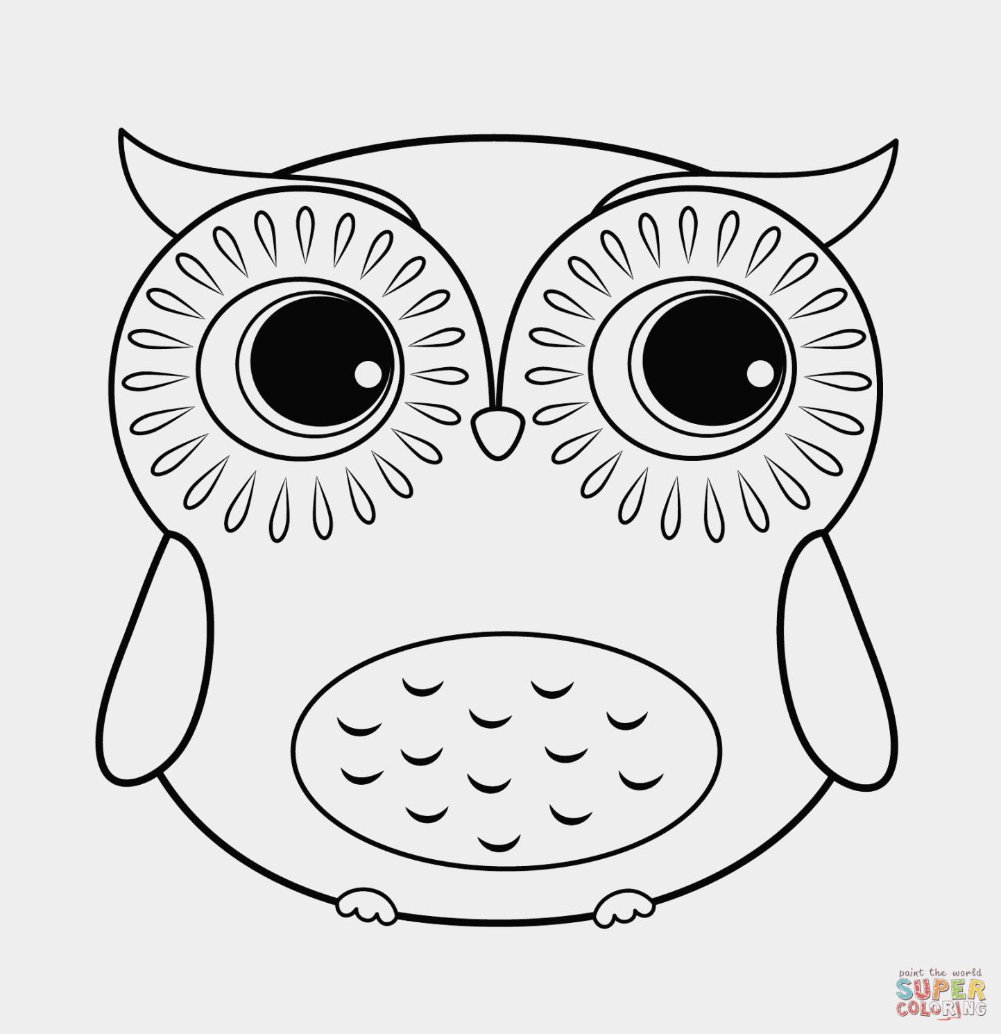 1443x1490 New Owl Cartoon Coloring
