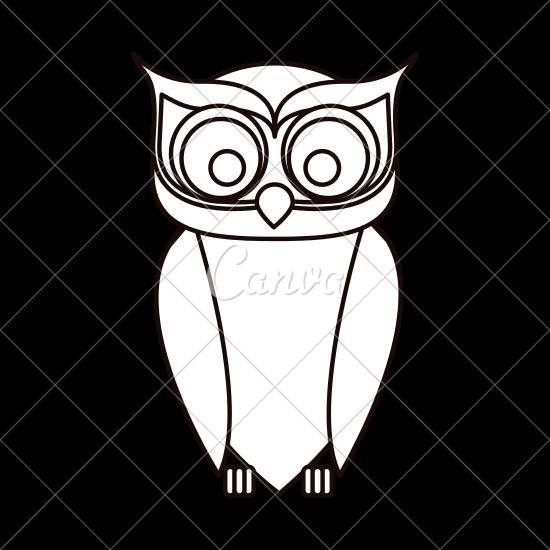 550x550 Owl Cartoon Design