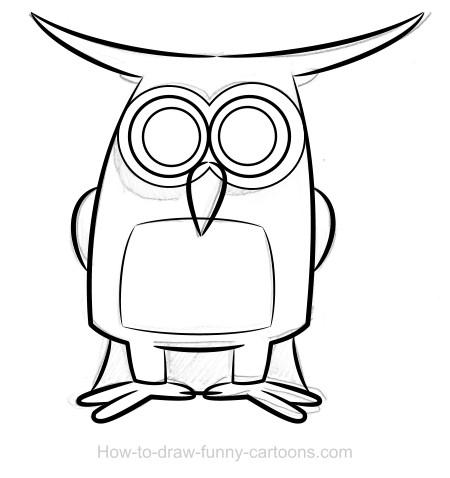 450x478 Owl Drawings (Sketching + Vector)