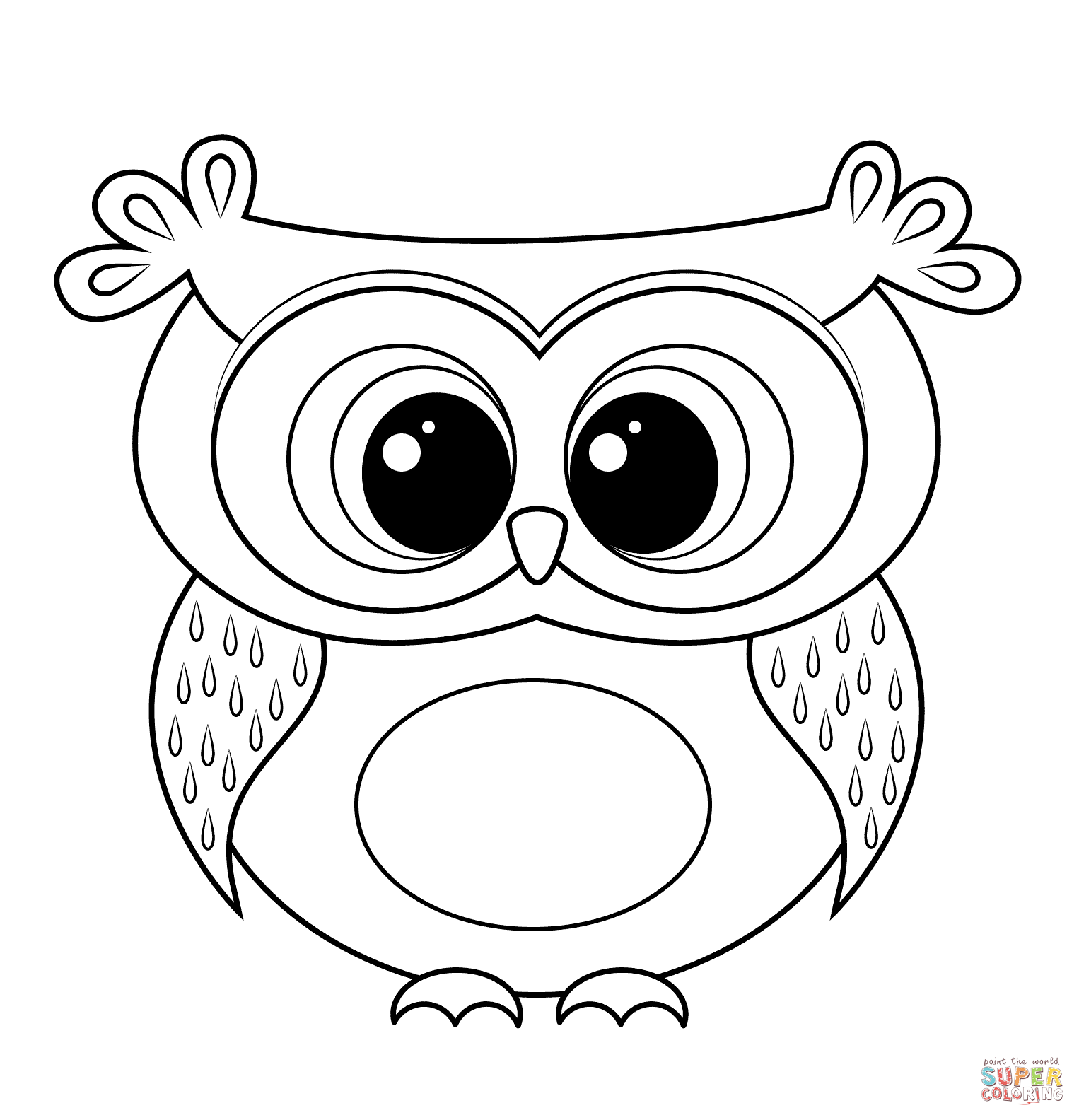 1526x1584 Cartoon Owl Coloring Page Free Printable Pages